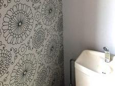 トイレ壁紙張替え